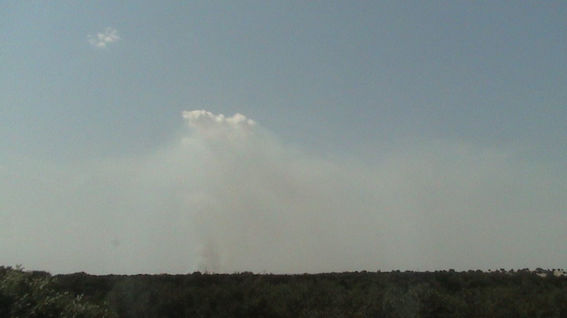 Smoke over Somervell/Hood Counties July 8 2011
