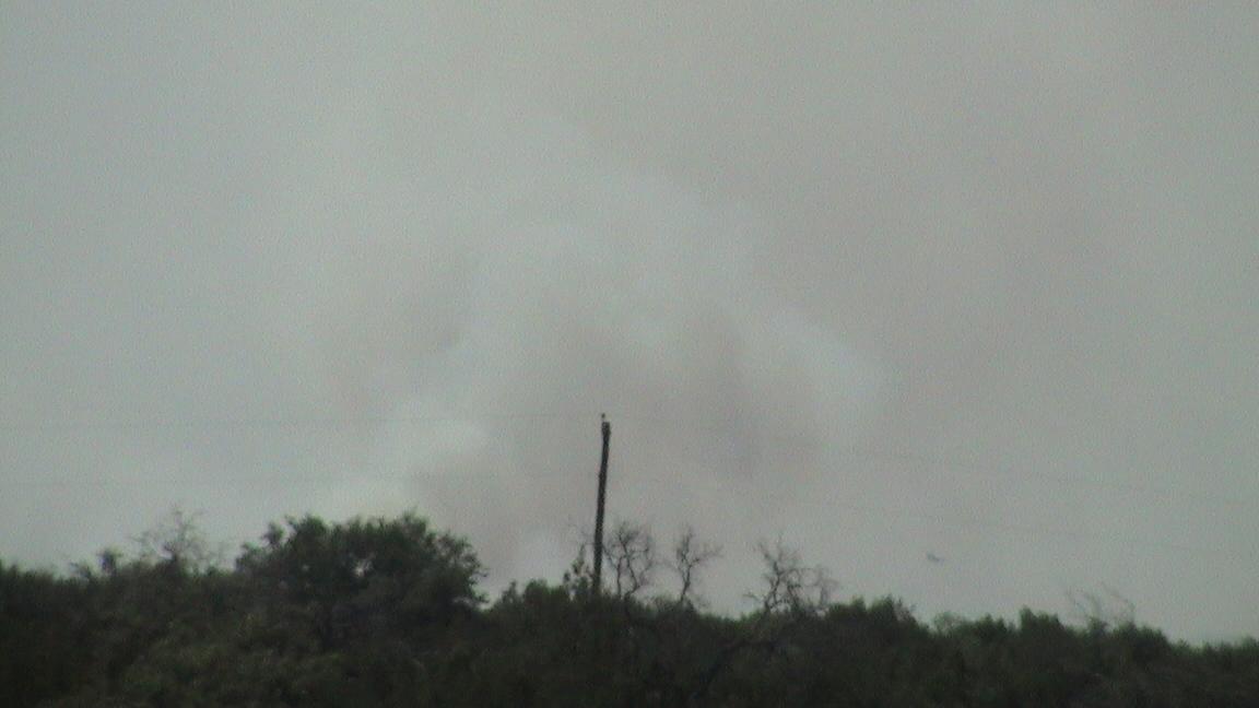 Smoke over Somervell/Hood Counties July 8 2011